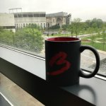 "View of ""the Shoe"" while enjoying my morning coffee"