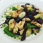 Artichoke salad starter.