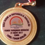 Hatice's medal for her delicious cooking from the president's wife !