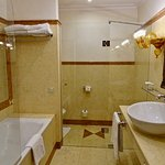 Beautiful Bathroom, with Many Amenities on Hand for Your Needs