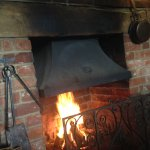 A warm welcome and a roaring log fire on a cold night at the cowper's