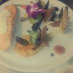 Pavé de saumon purée de patates douces et sauce estragon