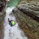 Sliding down canyon