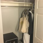 Closet space is minimal