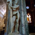 A sculpture of Christ by Michelangelo