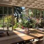 Orangery for breakfast in the summer and also for dinner