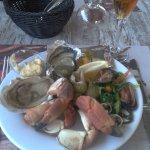 Un échantillon du buffet de fruits de mer