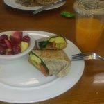 breakfast burrito & fresh squeezed orange juice :)