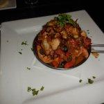Pupo Boquillero (grilled marinated octopus dish)