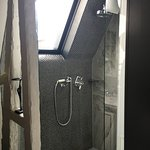the window in the shower is in the rooftop so you can close it or you can leave it open!
