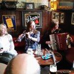 A typical Irish band striking up a tune.