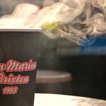 Kick-start your day with a steaming hot takeaway coffee!