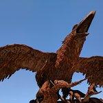 Prehistoric bird on nest
