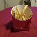 This is this Wendys idea of an order of fries... plus they were old and lukewarm
