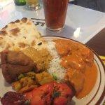 Butter Chicken, Rice, Naan, Tandoori Chicken Leg