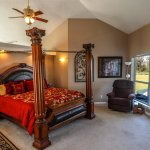 Cowboy Suite: Main floor to the Manor House. King bed, full bath and access to the back deck.