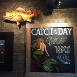 The daily menu and a rockfish
