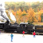 Cass Scenic RR park in Fall