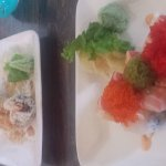 Volcano roll, Satay, Orchid roll, Larb
