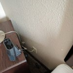 No place to plug in phone chargers without unplugging lights, clocks, or the bed.