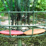 Disc golf - our favorite thing about this park!