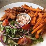 Cajun Chicken & Sweet Potato wedges
