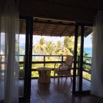 Hillside cottage balcony