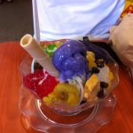 notice the purple yam ice-cream