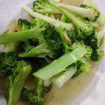 broccoli with garlic...