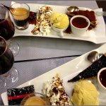 Café gourmand, a light dessert to finish with...