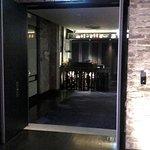 Main door to Restaurant reception