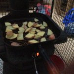 Slow cooking on the wood stove