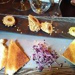 foie gras coeur passion, pané aux graines torréfiées