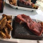 Black rock steak