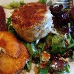 Crabcake on salad