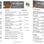 The Farmhouse Tavern's menu (collage)