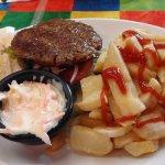 Lamb Burger Meal - delicious!