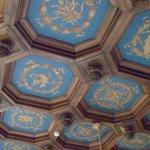 le plafond classé de la salle à manger