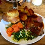 Lovely Sunday roast. Very good value :-) May 2017