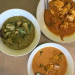 3 different types of curry (make with the homemade curry paste)