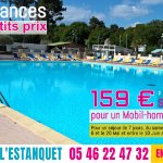 Vacances à petits prix à partir de 159€ pour une semaine du 6 au 20 Mai et du 10 Juin au 1er Jui