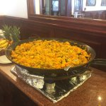 The Paella was incredible in the buffet area.