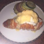 Lobster serve in the steak house.