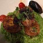 Capesante con Risotto, the best jumbo scallops ever! Love them!