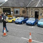 MG F&TF UK owners club,at the Carters rest Jedburgh !