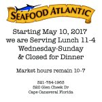 Seafood Atlantic New Hours