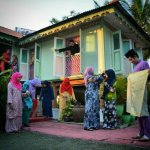 Raya photoshoot for those with limitation to go back to their own village