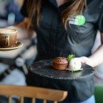 Our bestseller - home made schokolade cake wirh liquid core