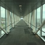 Sky bridge to convention center