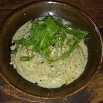 Starters - Linguine with Crab, Pesto & Creme Fraiche